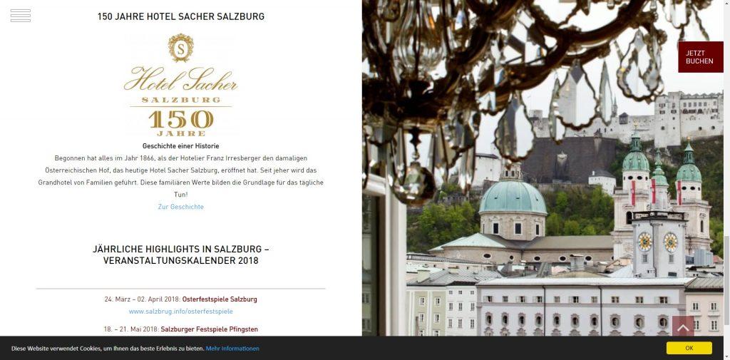 Das Hotel Sacher hat gute Ansätze, aber auch hier gäbe es Verbesserungsbedarf - https://www.sacher.com/hotel-sacher-salzburg/aktuelles/