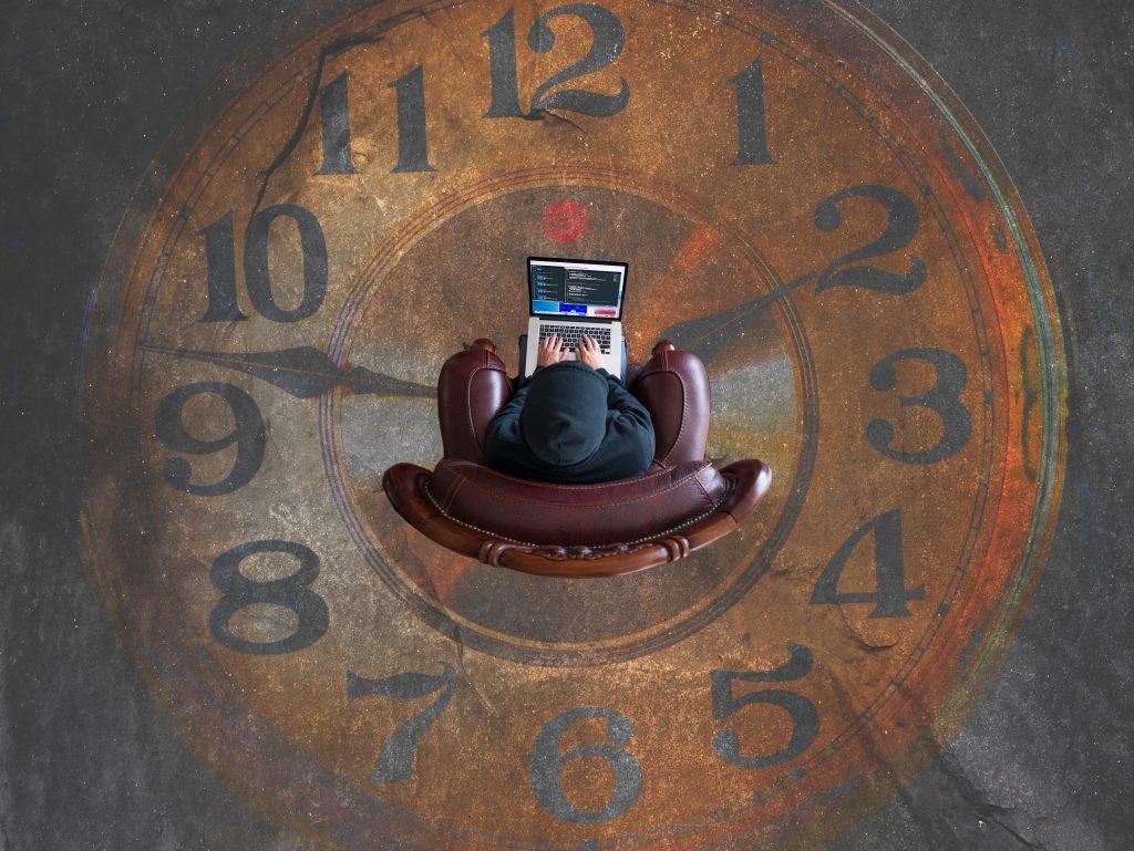 Schreiben nach der Uhrzeit.