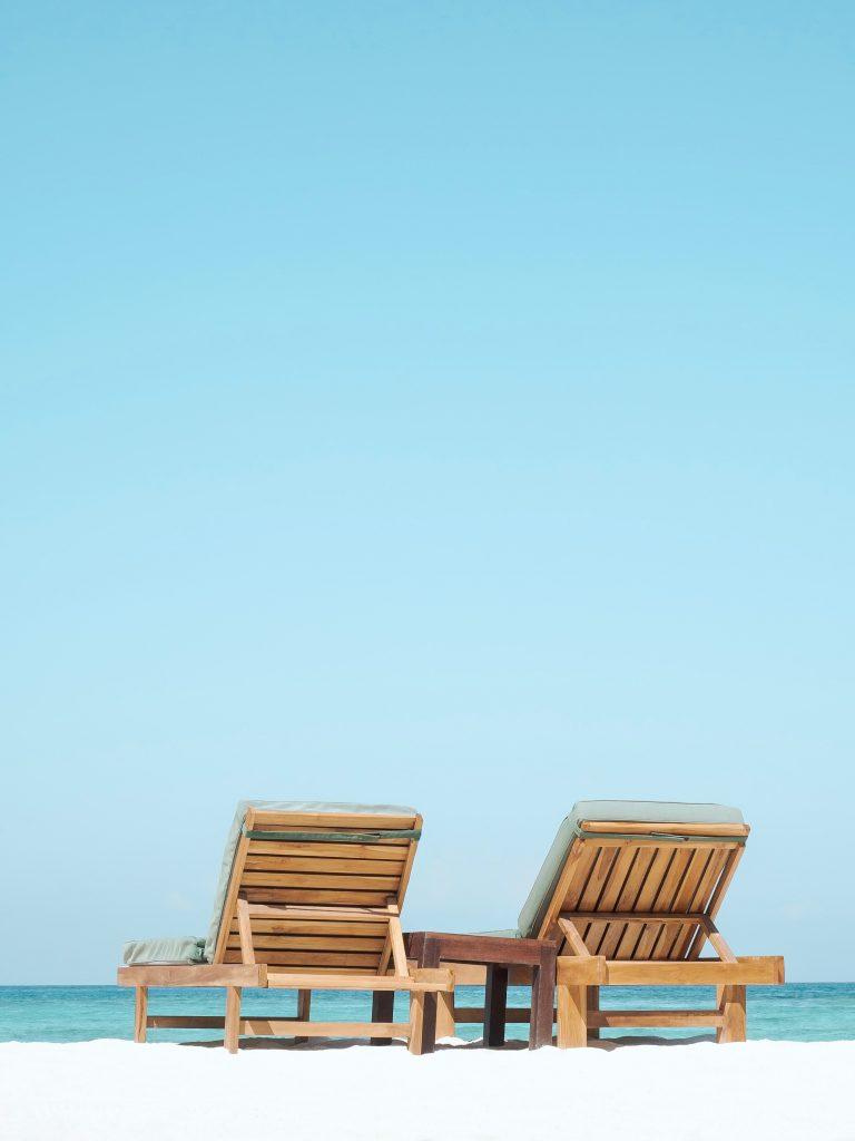 Urlaub Liegestühle